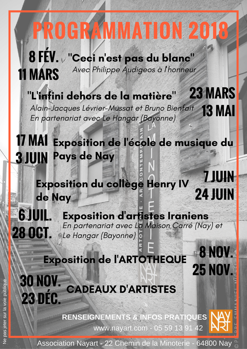 Programmation 2018 Minoterie Nay